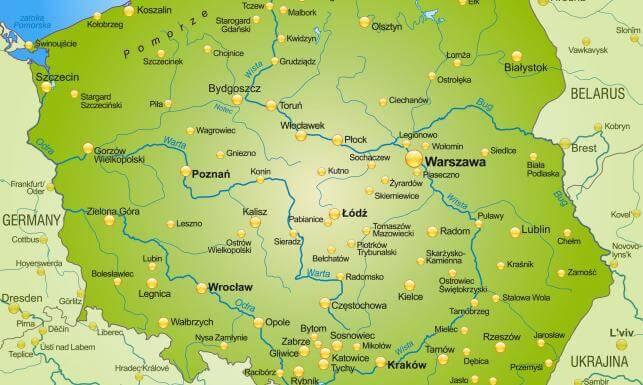 Futsalowa mapa Polski